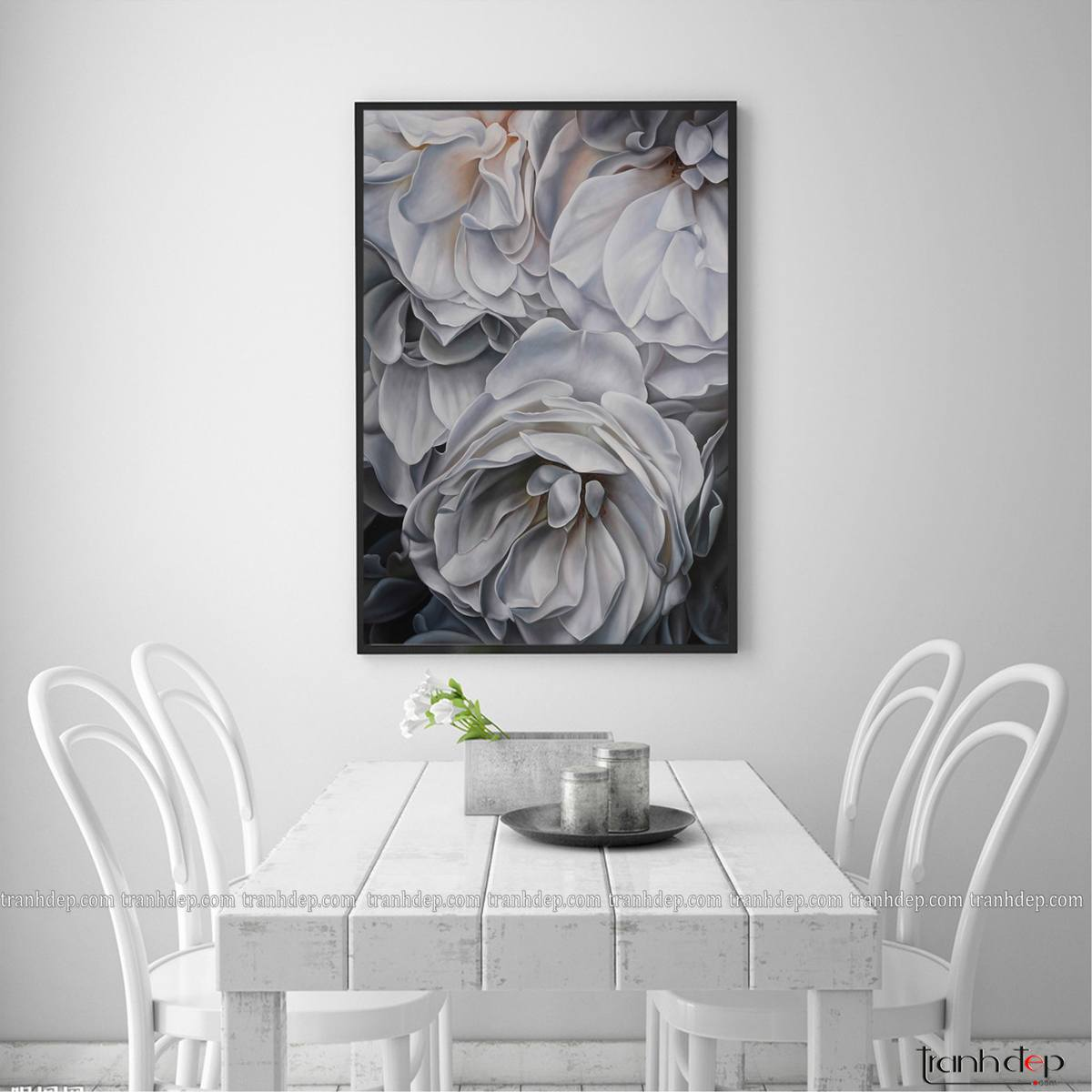 tranh hoa treo phòng ăn