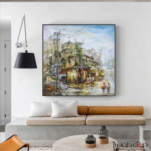 Tranh phố cổ 24 | Xưởng vẽ tranh Hà Nội
