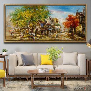 Tranh phố cổ 16 | xưởng vẽ tranh sơn dầu phố cổ cao cấp