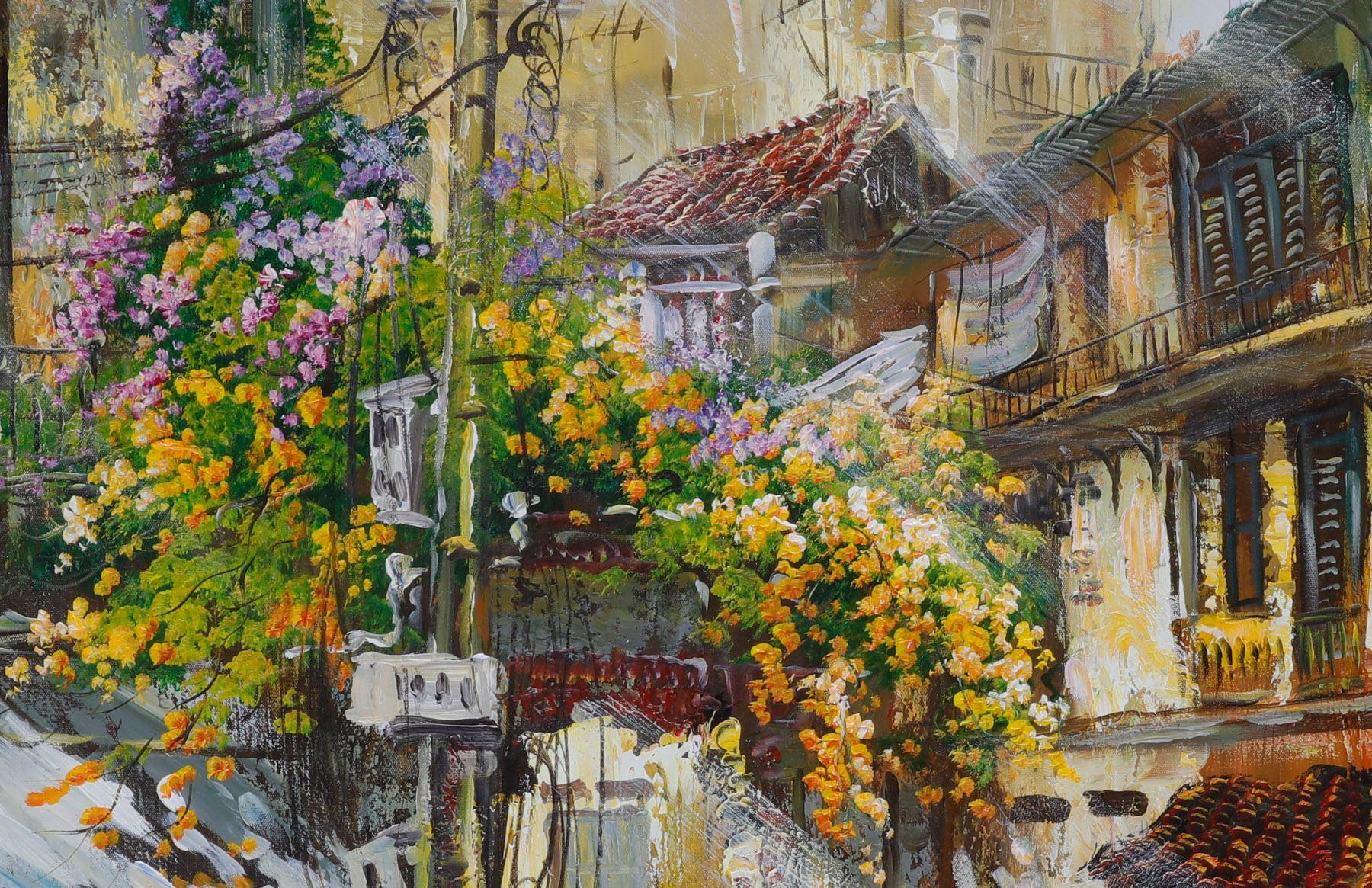 tranh sơn dầu Hà Nội