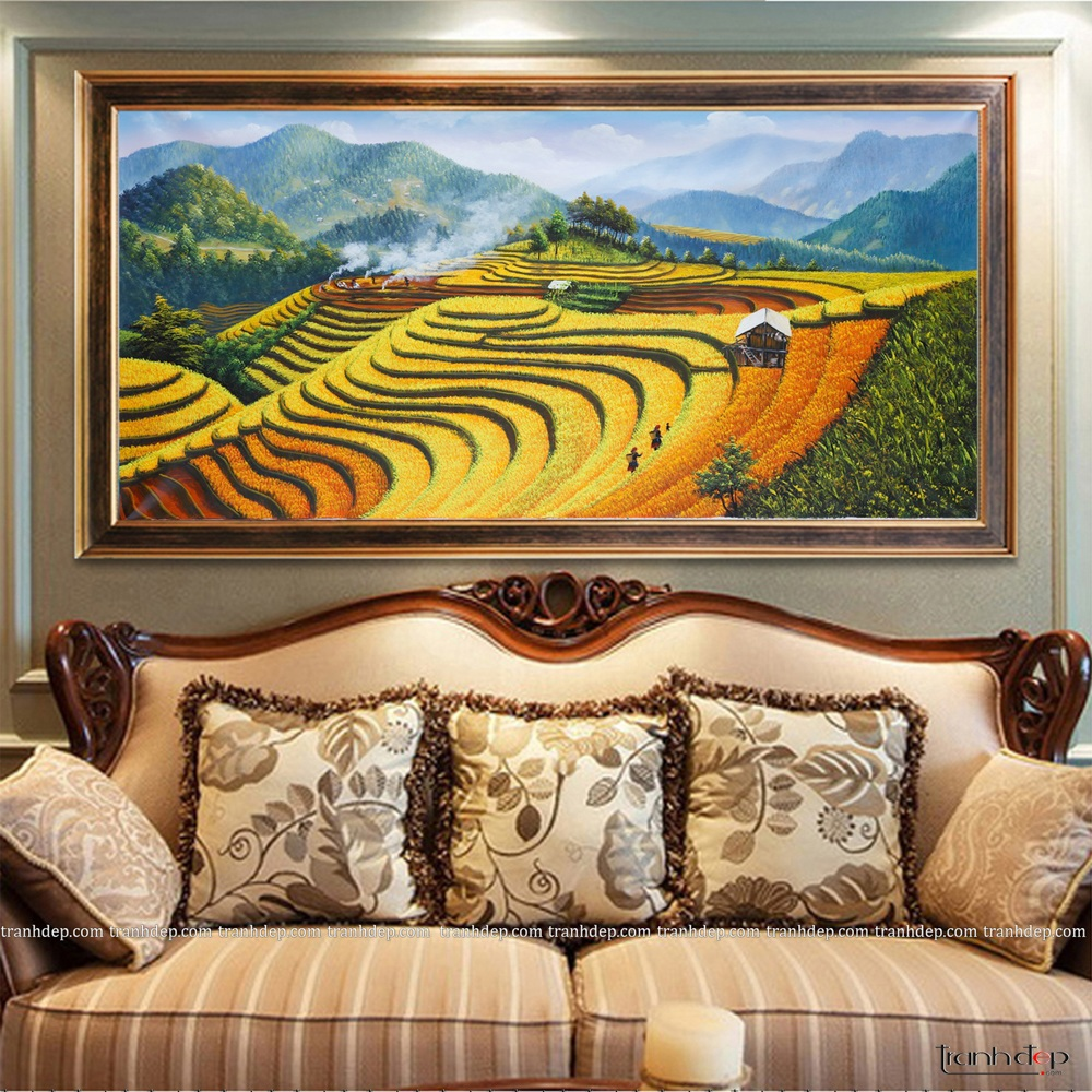 Ruong bac thang mua lua chin - Tranh phong canh Tay Bac 04 (6)