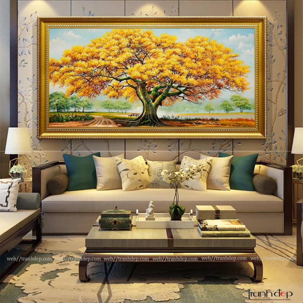 tranh cây cổ thụ