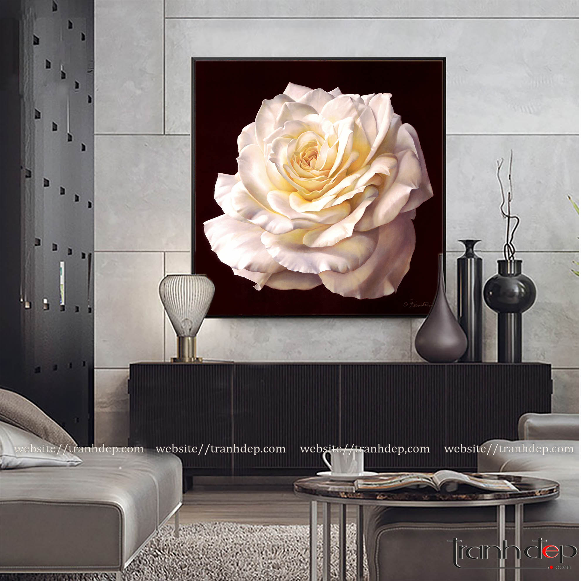 tranh hoa hồng treo tường
