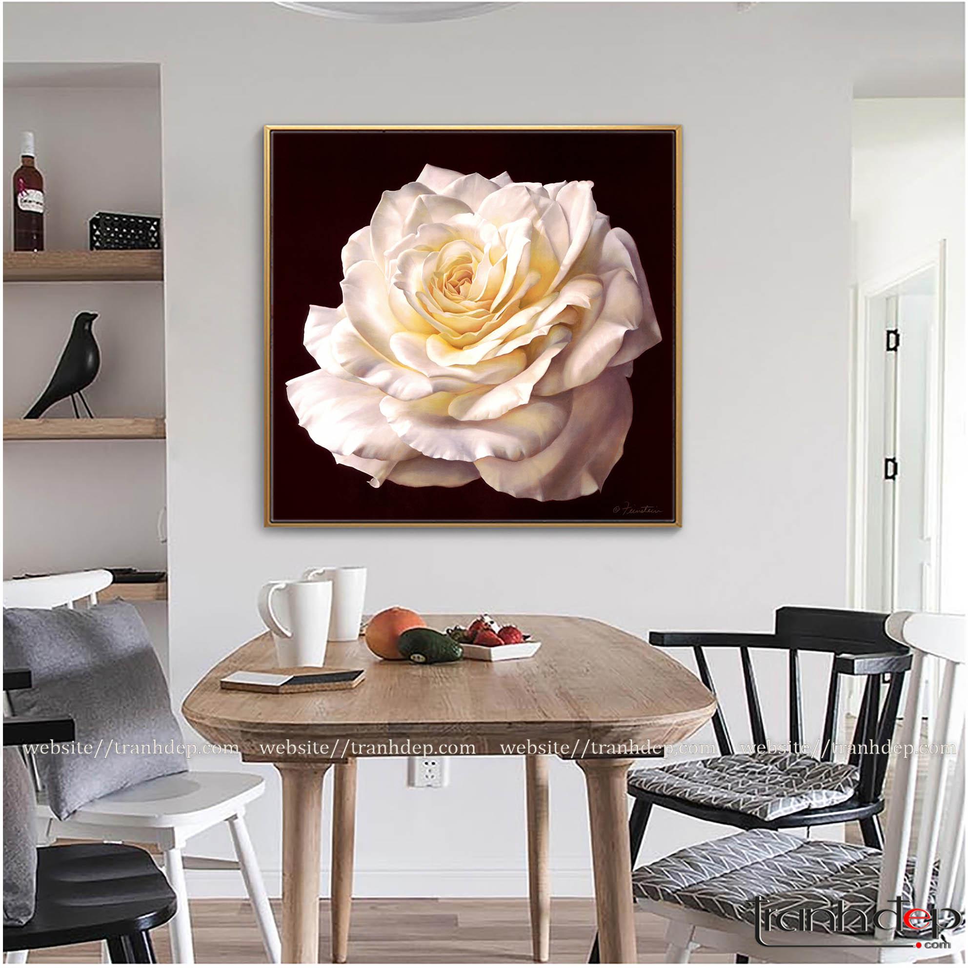 Tranh hoa hồng treo phòng ăn