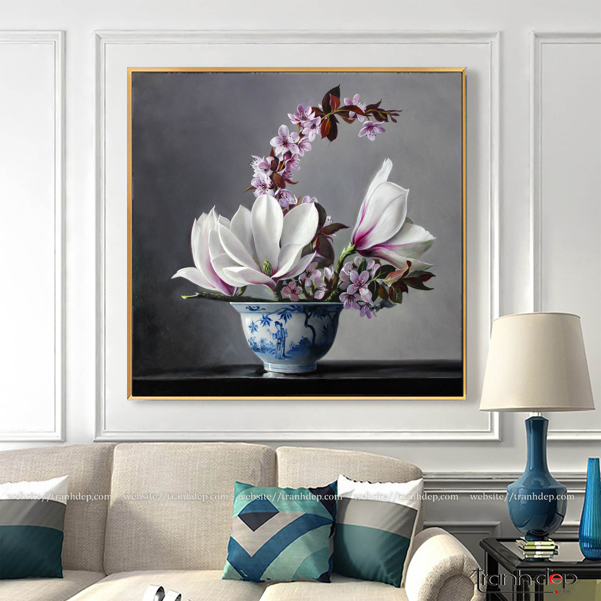 Tranh hoa treo tường