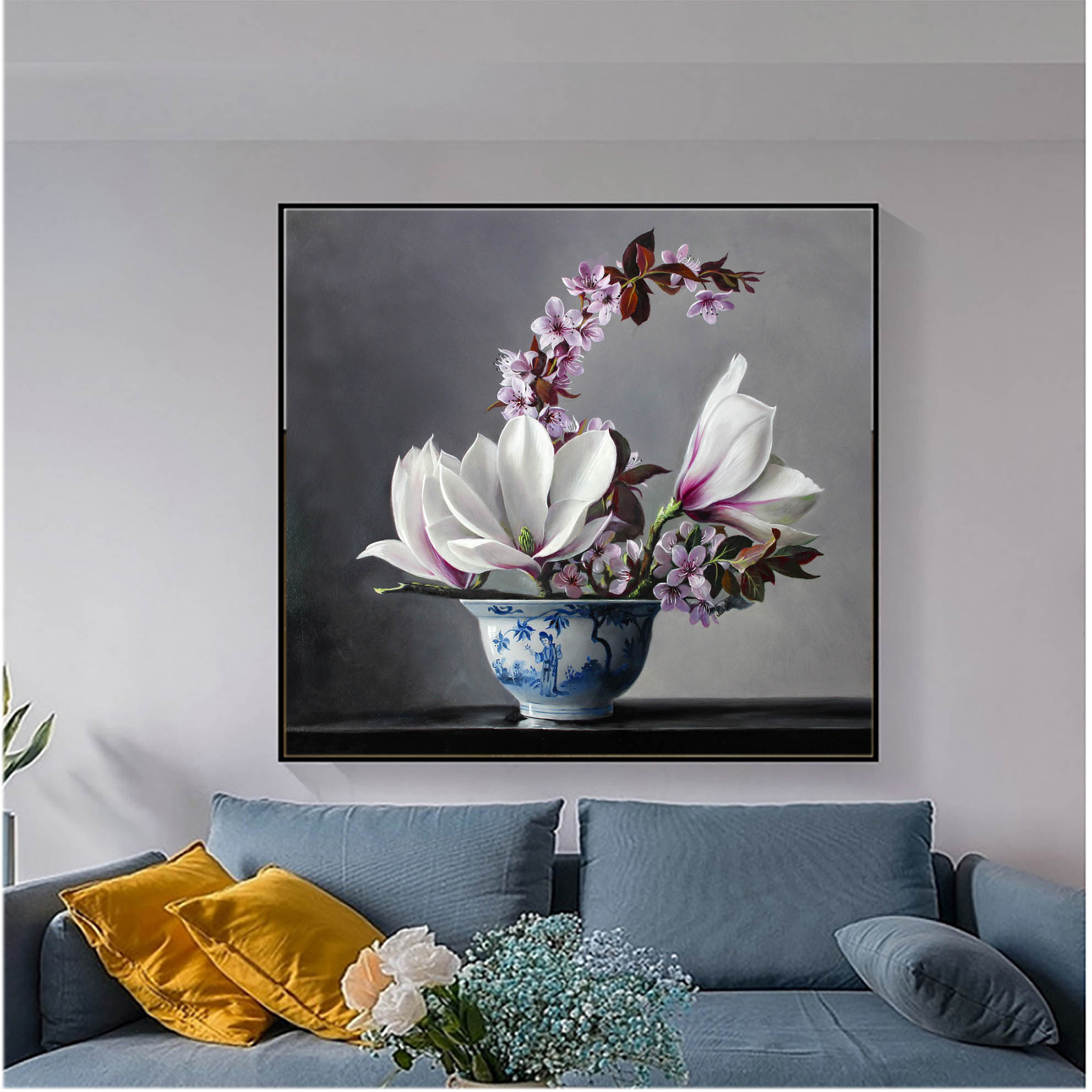 tranh hoa lan dep