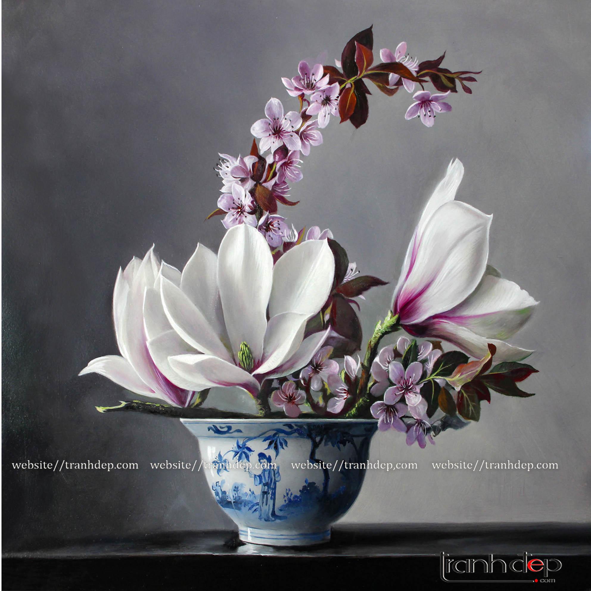 tranh hoa mộc lan