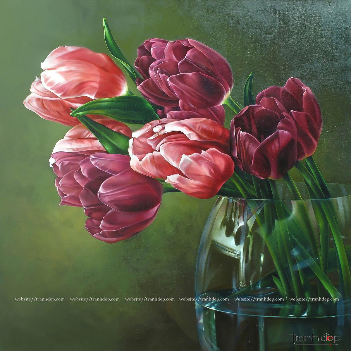 Tổng quan bức tranh hoa tulip