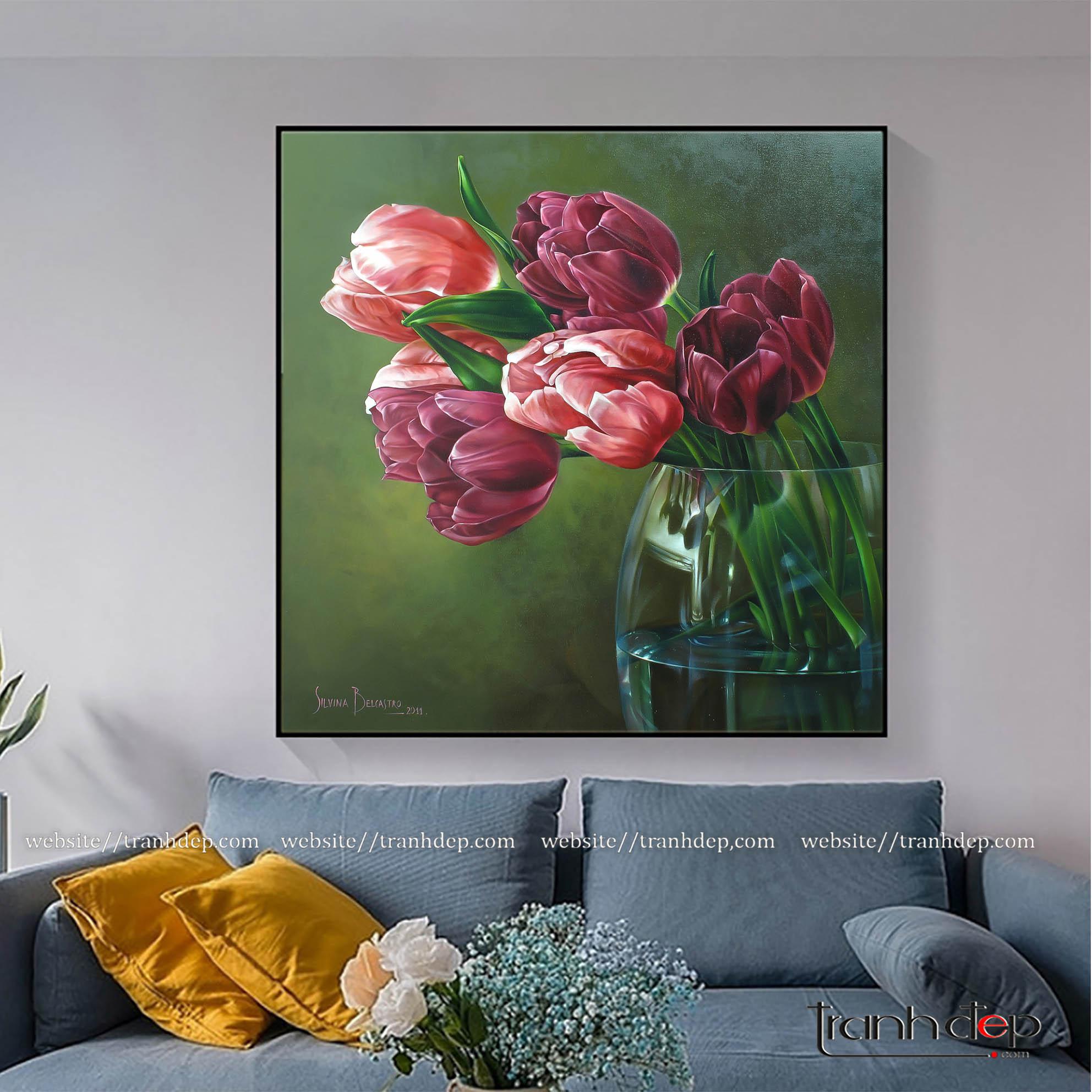 Bức tranh trang trí không gian phòng khách