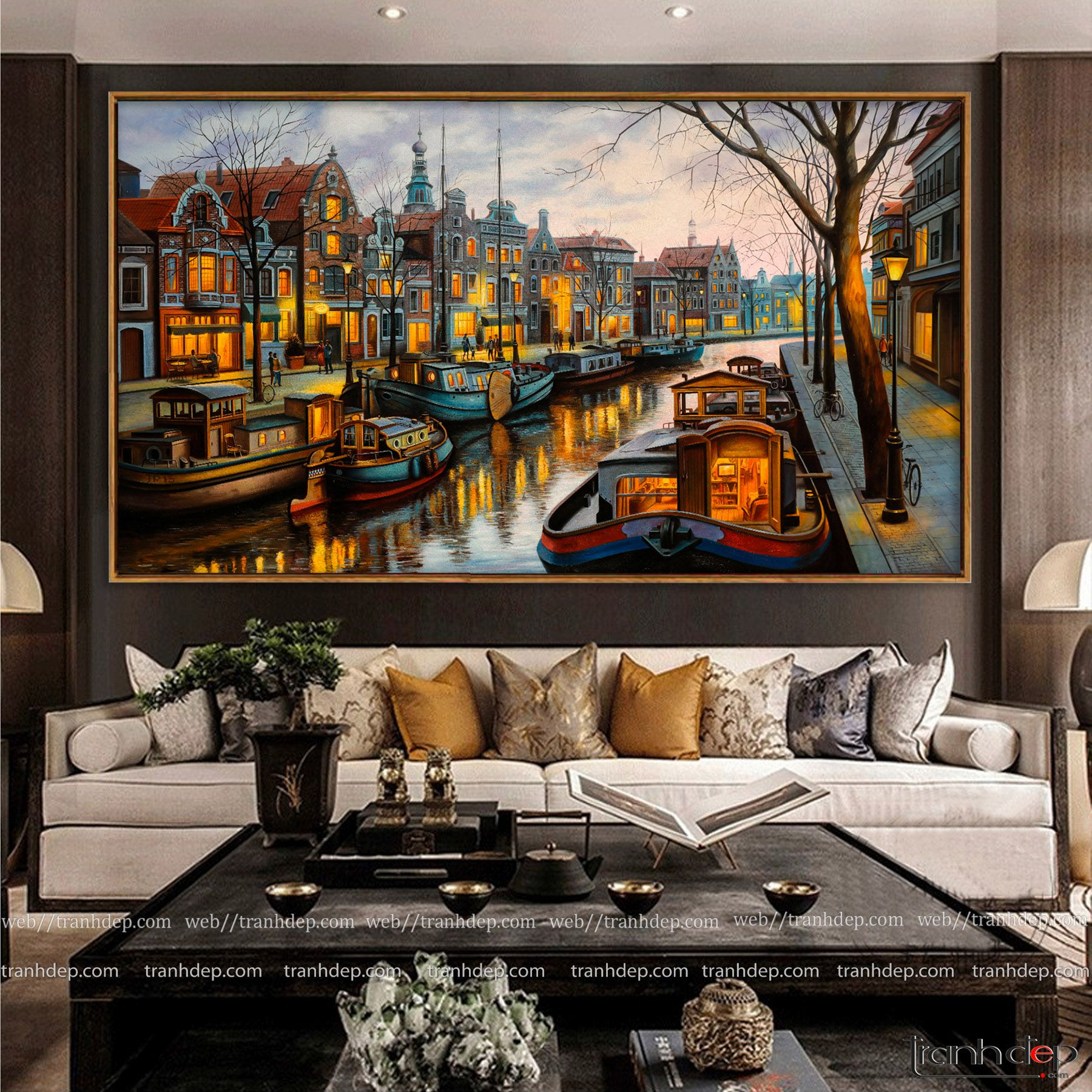 Tranh vẽ phong cảnh Châu Âu lãng mạn và nghệ thuật