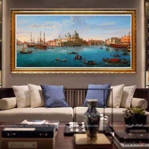 Tranh sơn dầu Phong cảnh biển Châu Âu