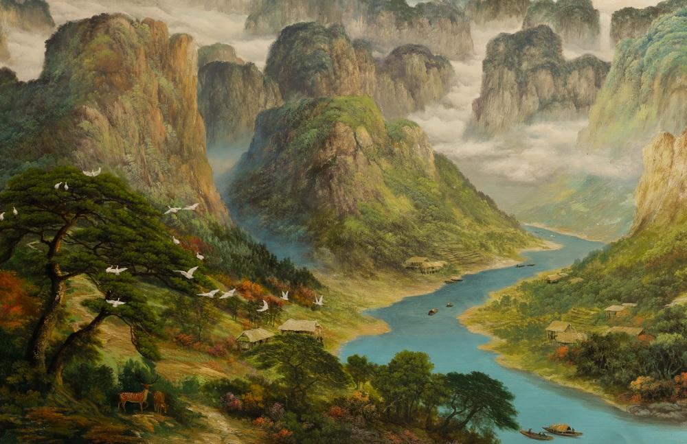 tranh phong cảnh núi sông