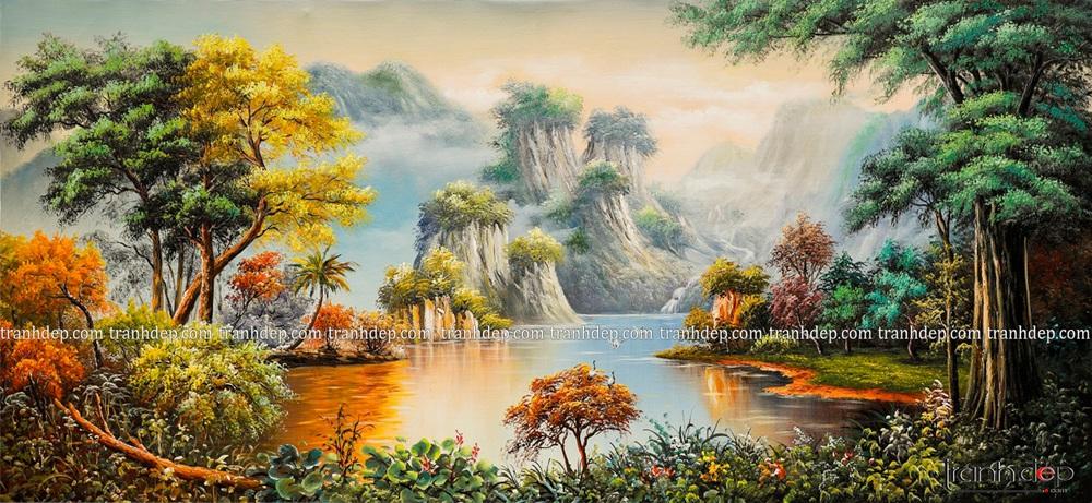 tranh phong cảnh núi non