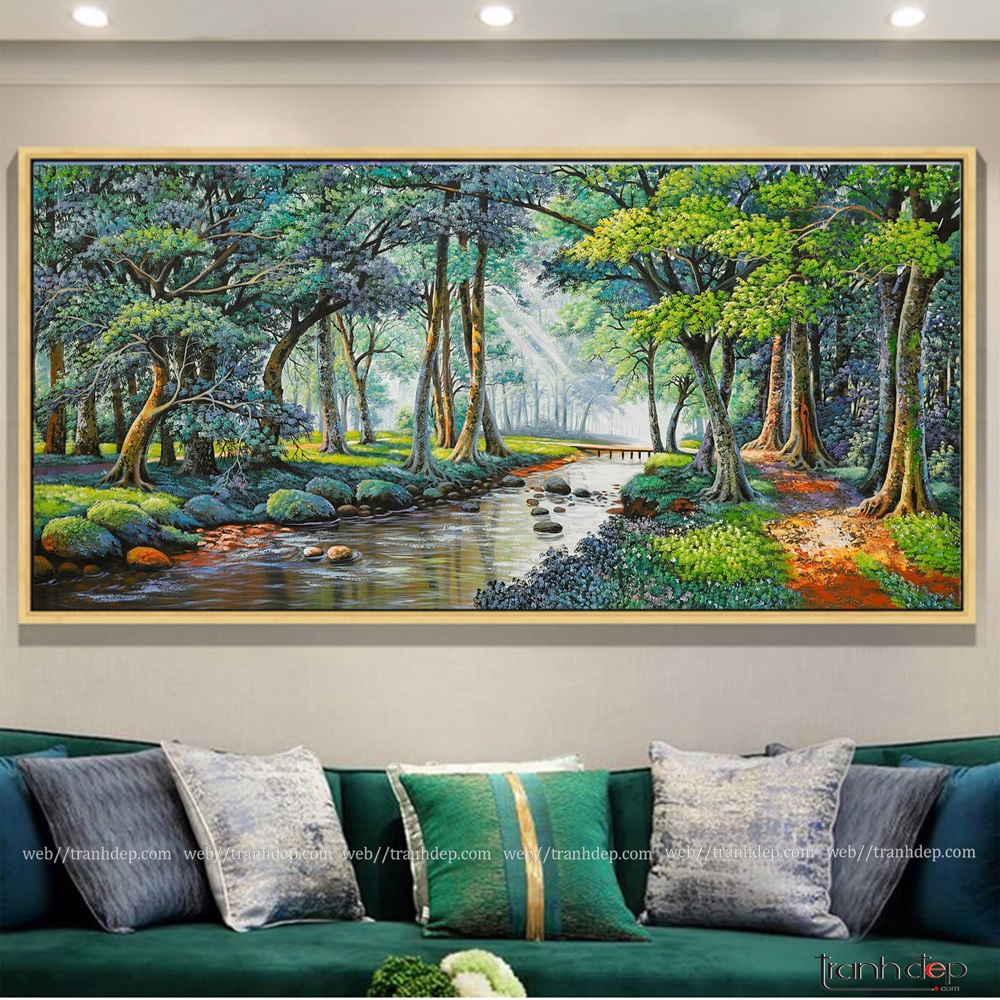 tranh phong cảnh khu rừng