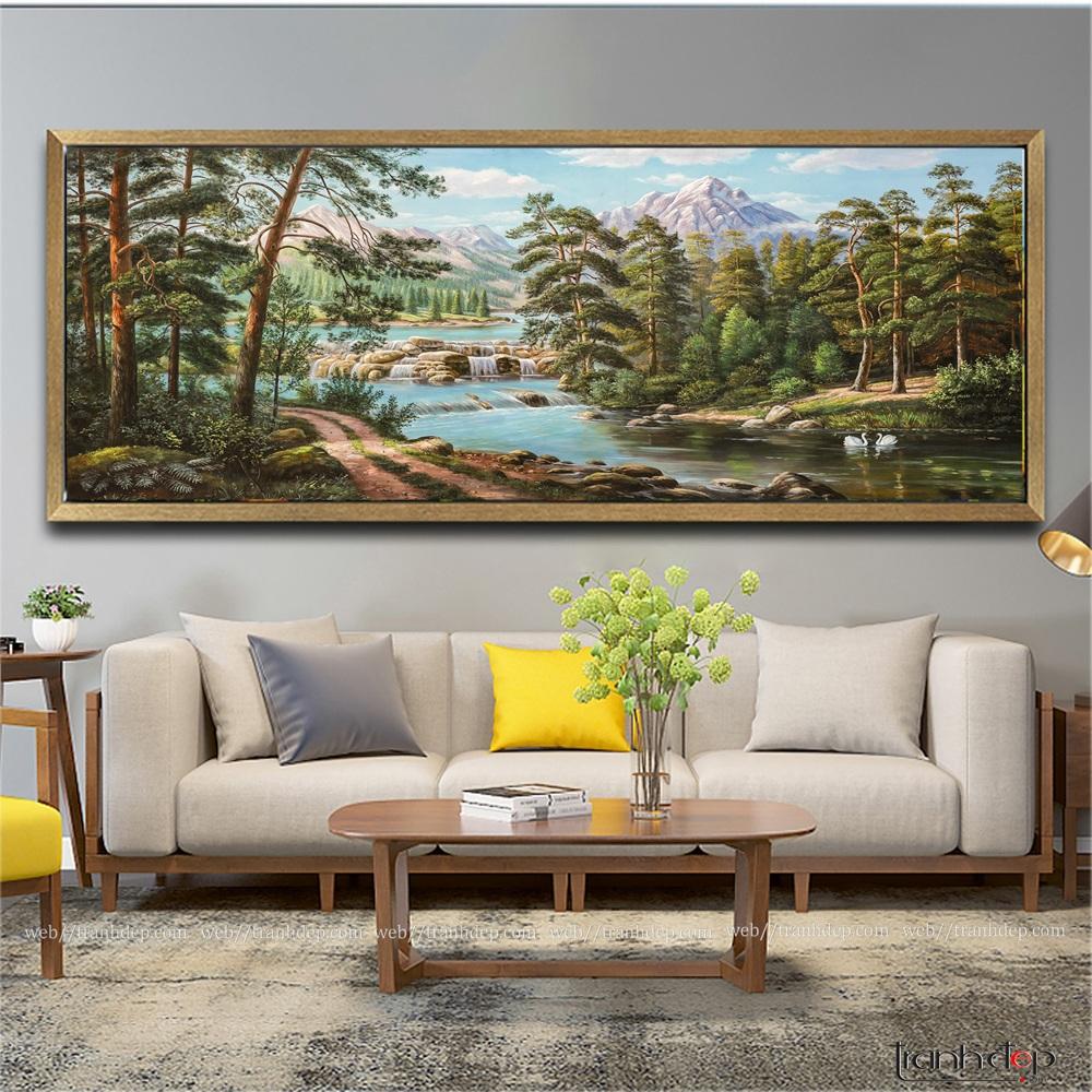 tranh sơn dầu rừng cây