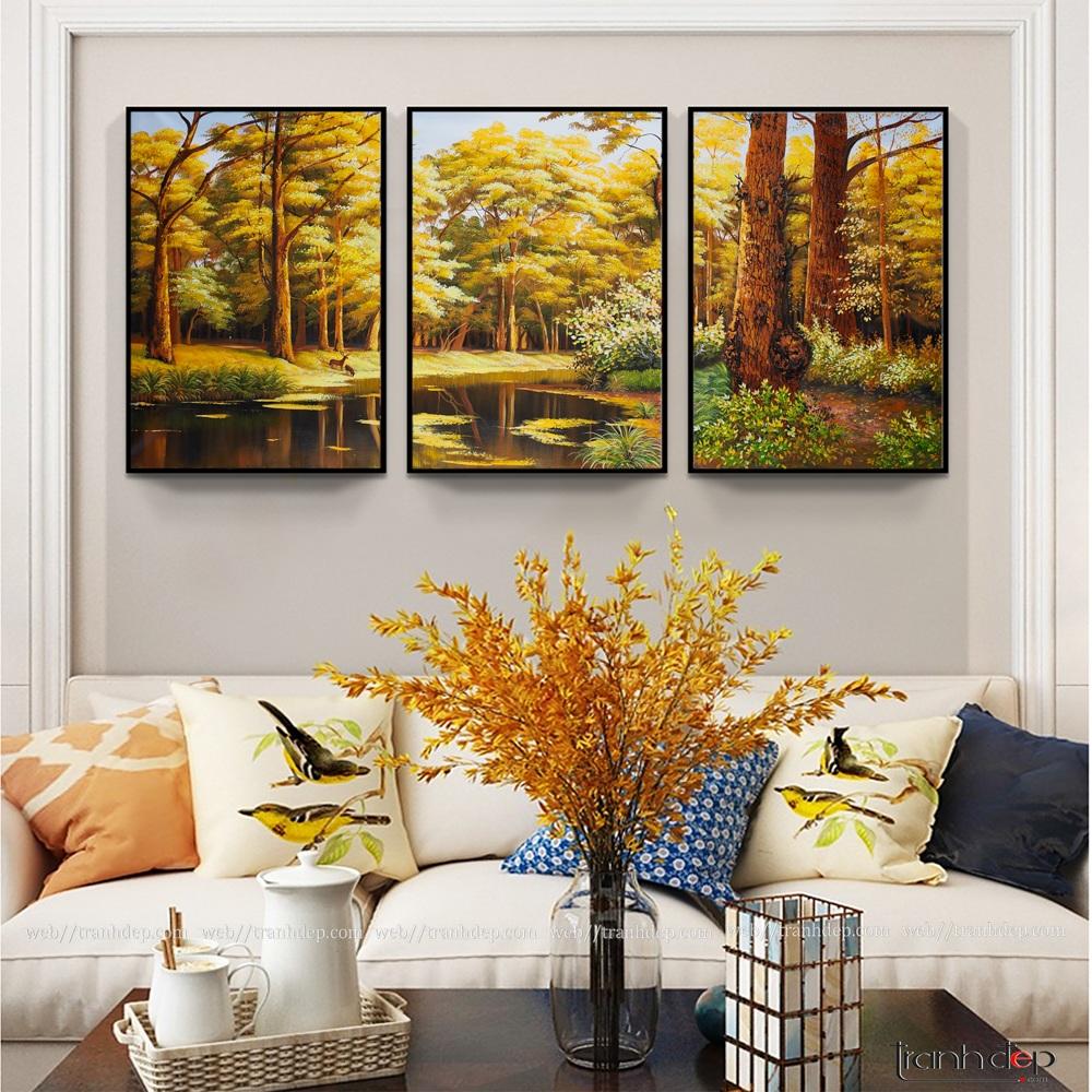 Bộ 3 tranh phong cảnh mùa thu