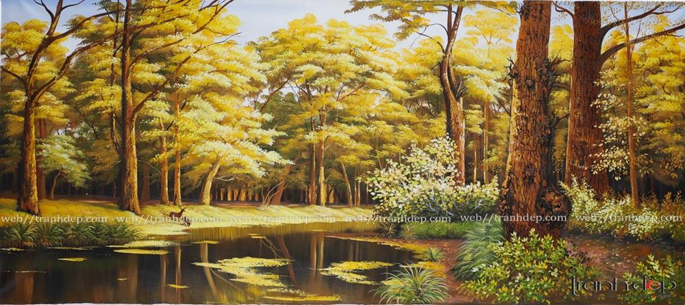 Tranh phong cảnh thiên nhiên mùa thu