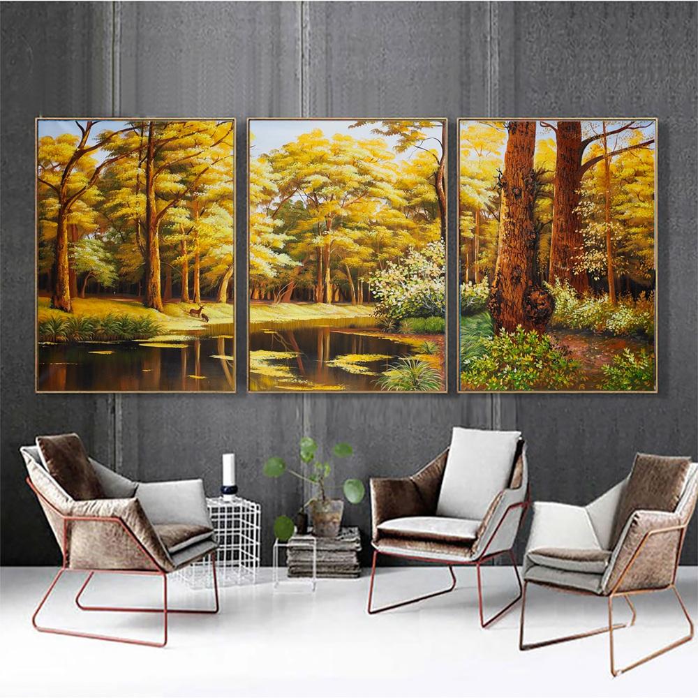 Tranh sơn dầu vẽ phong cảnh mùa thu tuyệt đẹp