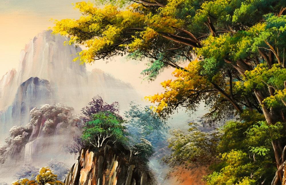 tranh thiên nhiên núi rừng