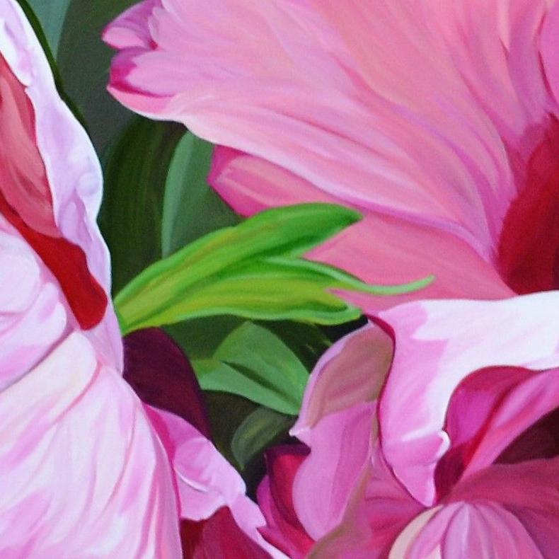 Những cánh hoa tulip hồng ngọt ngào