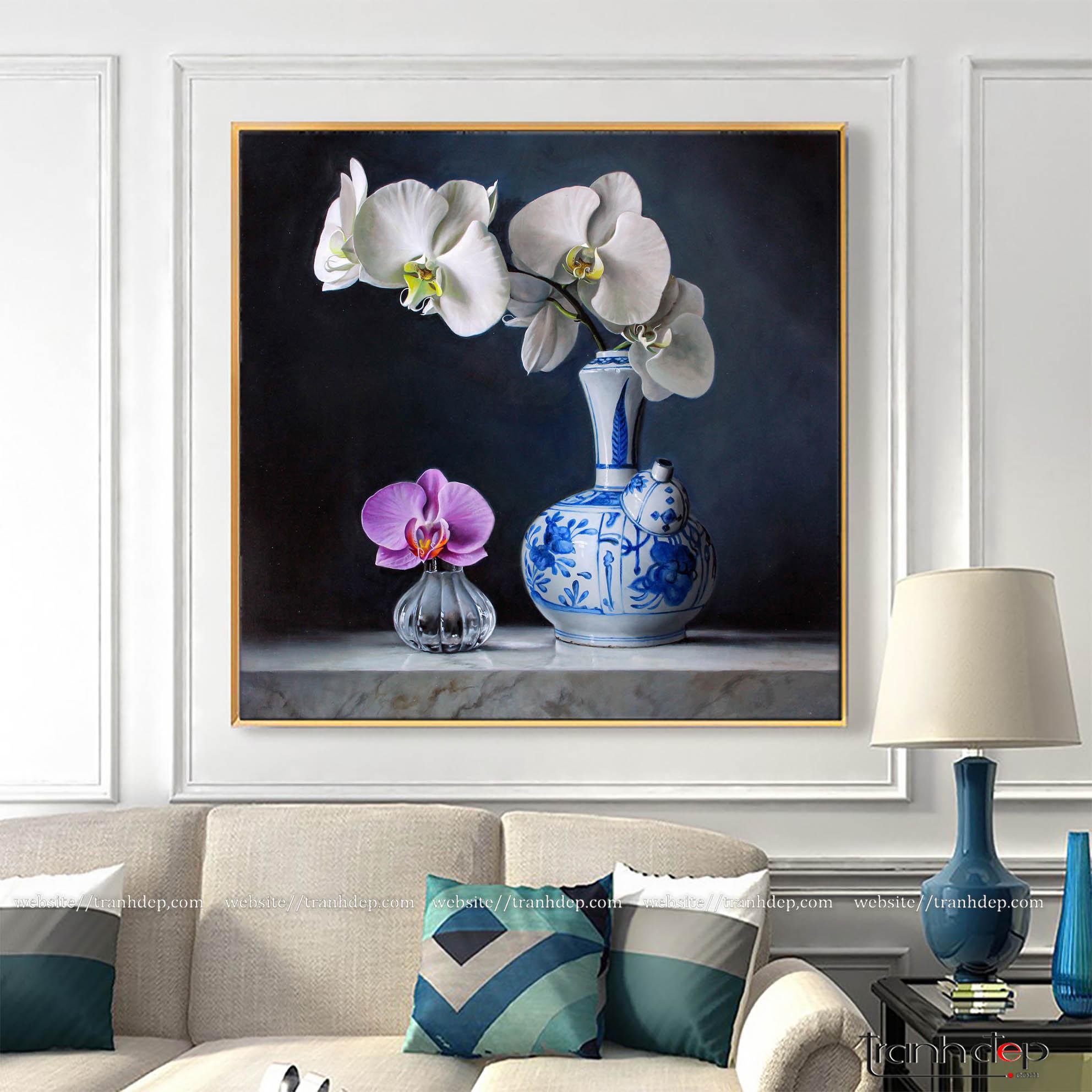 Tranh vẽ bình hoa độc đáo