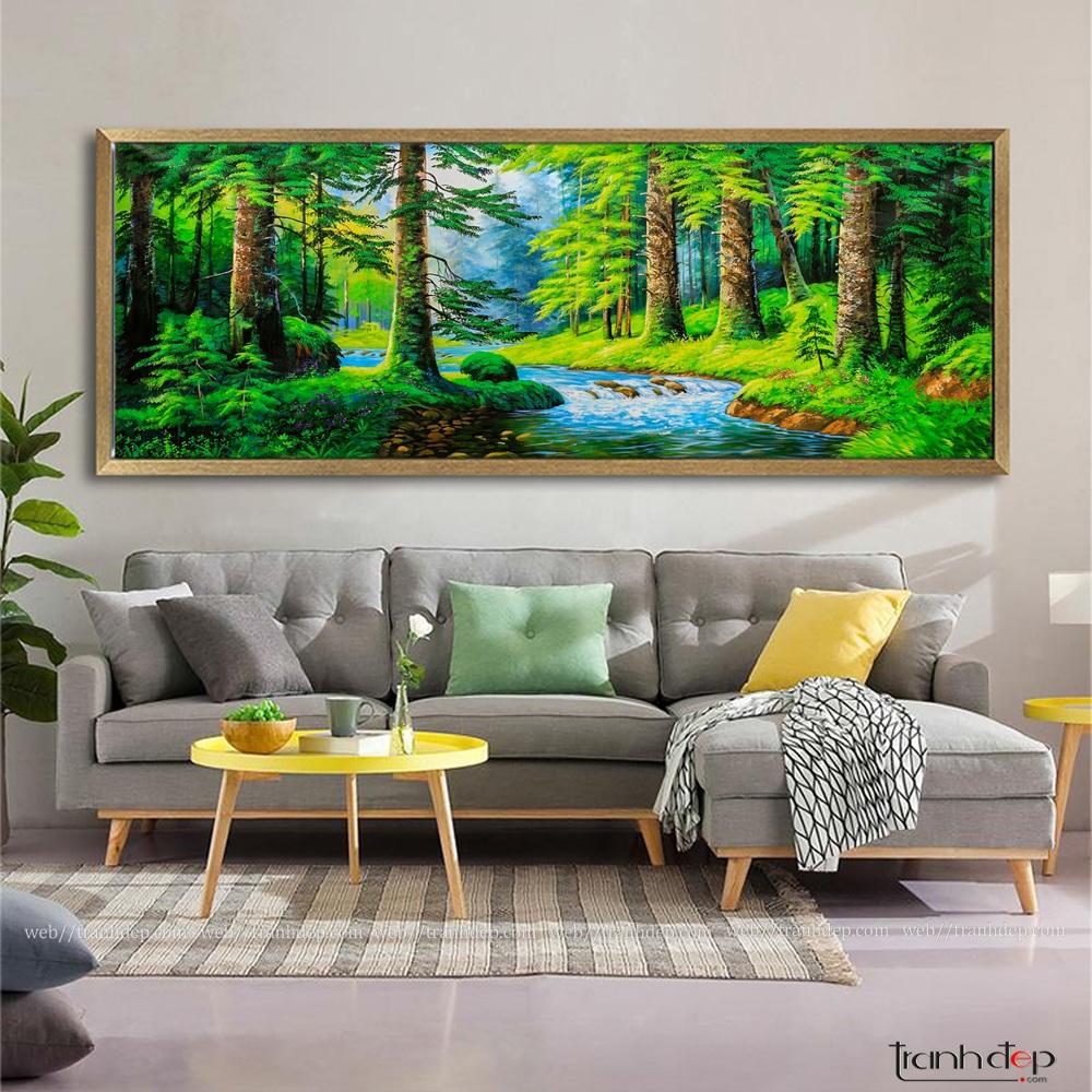 tranh rừng cây hợp phong thủy
