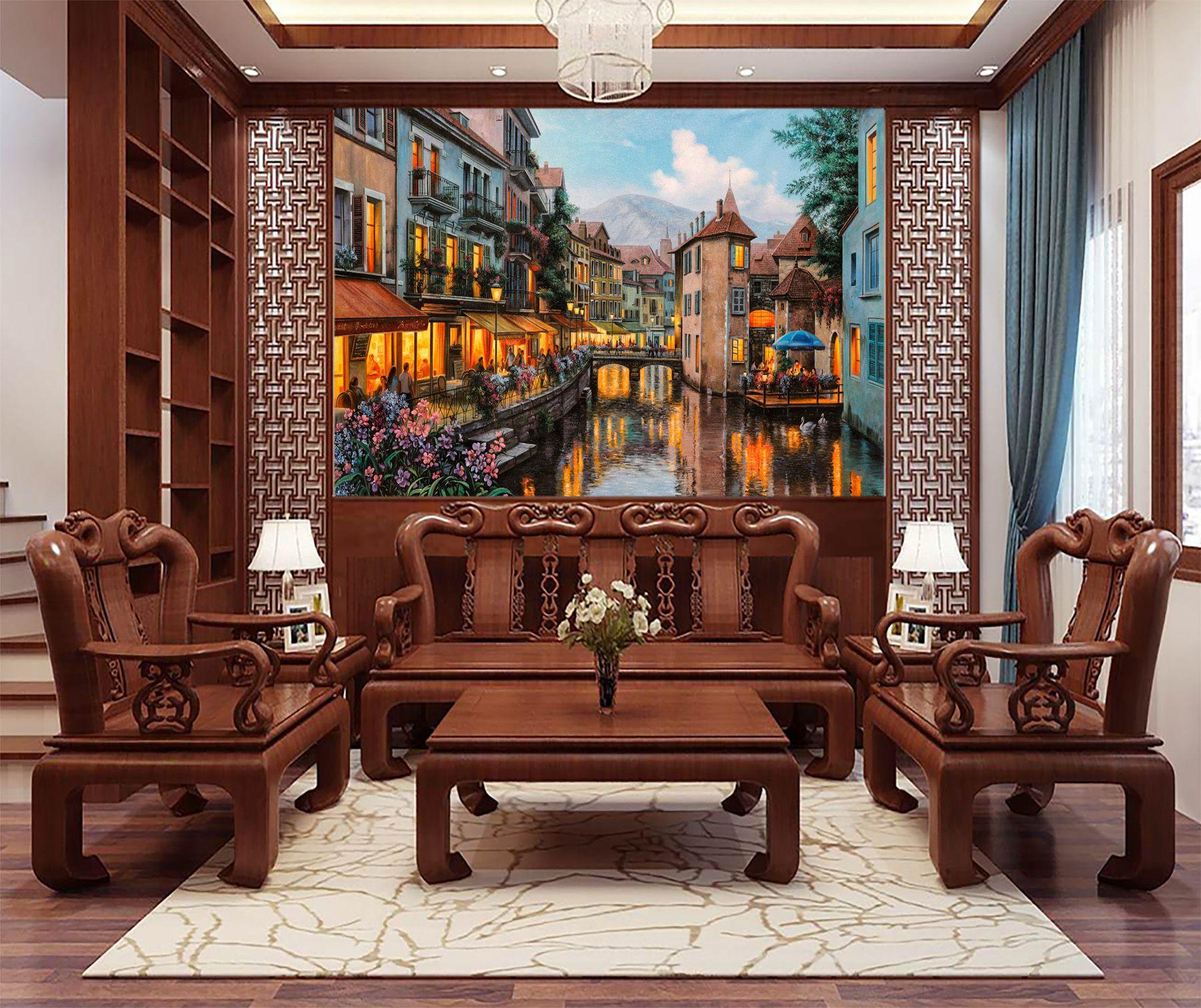 Tranh Châu Âu trong phòng khách Việt Nam