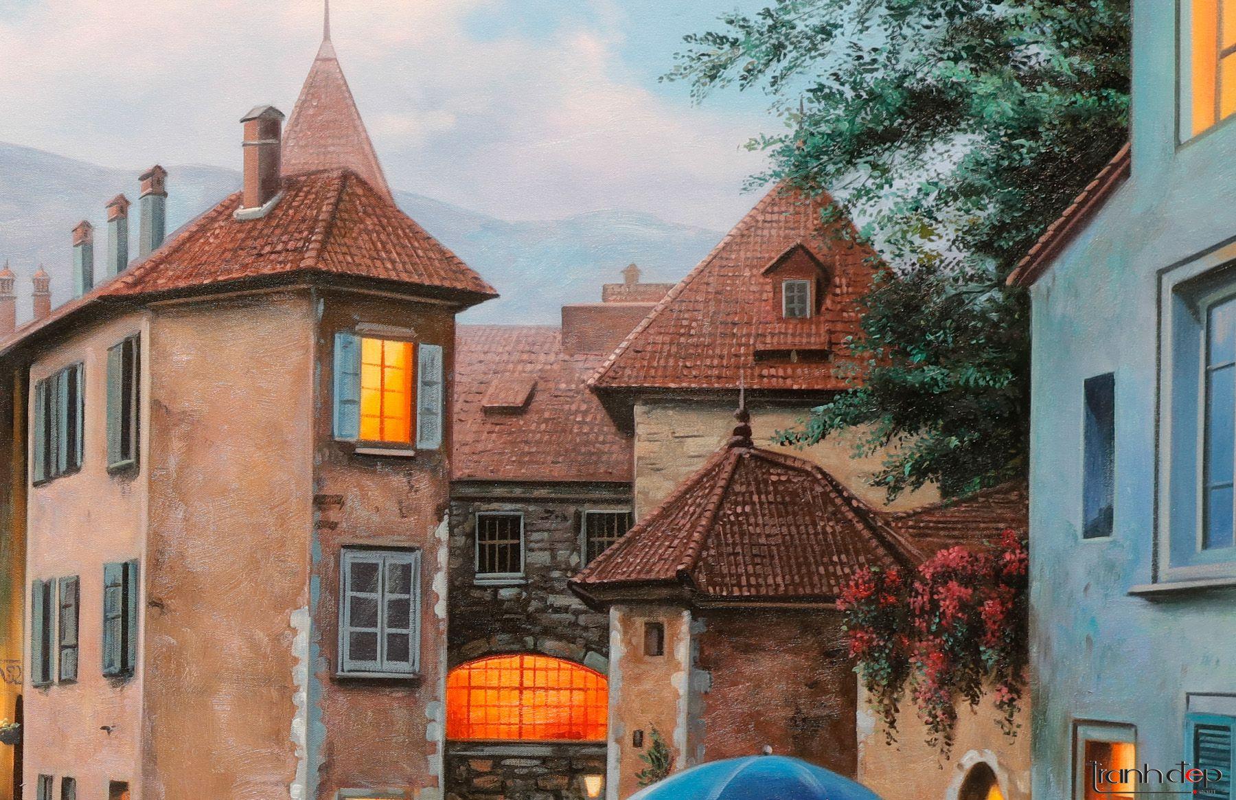 Kiến trúc Pháp cổ trong tranh