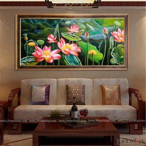 Tranh hoa sen truyền thống treo tường