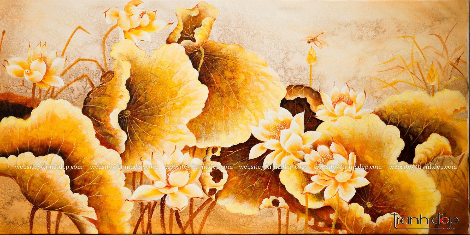 tranh hoa sen