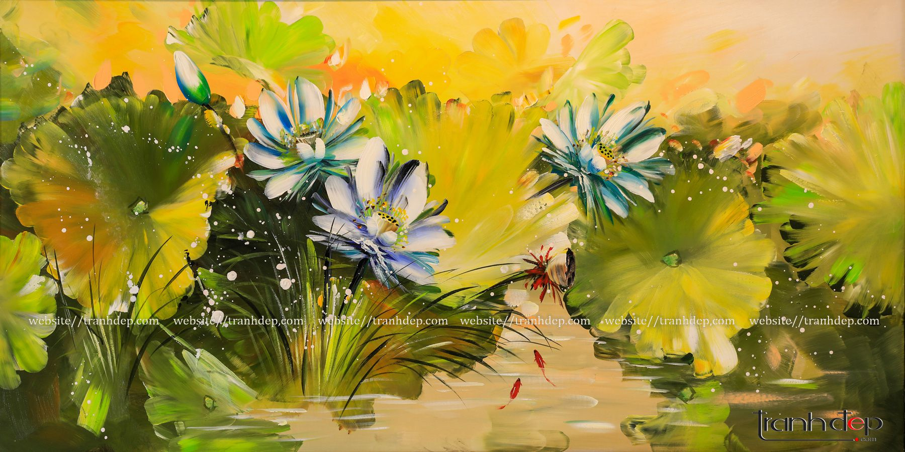 tranh vẽ chất liệu sơn dầu
