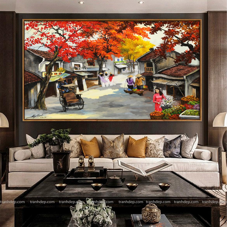 Phong cảnh Hà Nội xưa trong tranh phố cổ