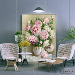 tranh tinh vat binh hoa mau don