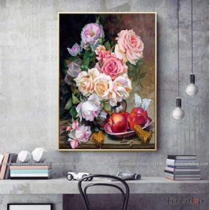 tranh tinh vat hoa qua va mat ngot