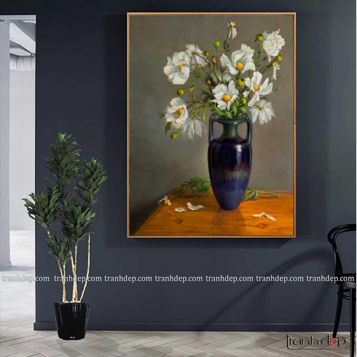 tranh tinh vat binh hoa cuc hoa mi sieu dep