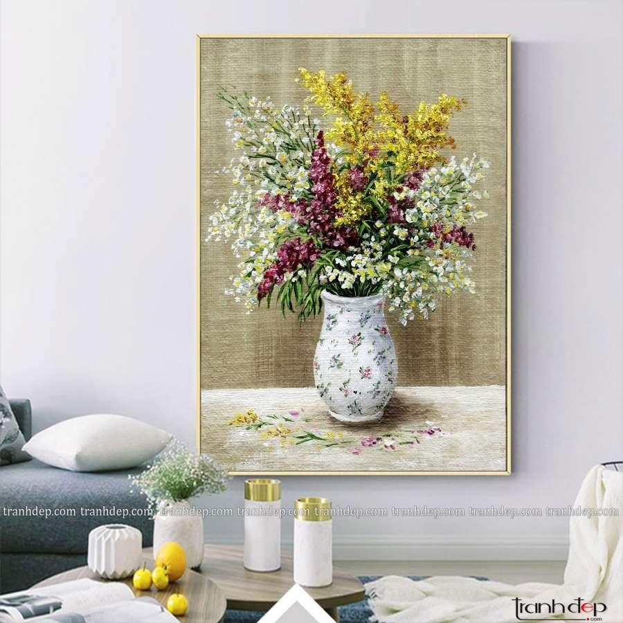 tranh ve hoa cuc