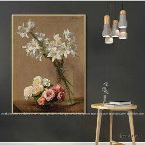tranh tinh vat binh hoa trang tinh khoi