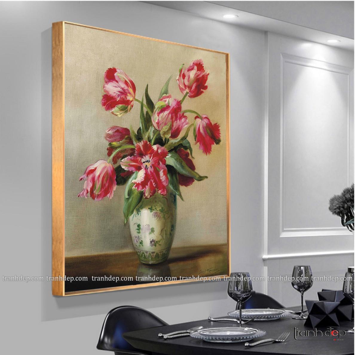 tranh-tinh-vat-binh-hoa-tulip-hong-quy-toc