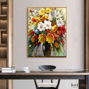 tranh tinh vat hoa bay sac mau ruc ro