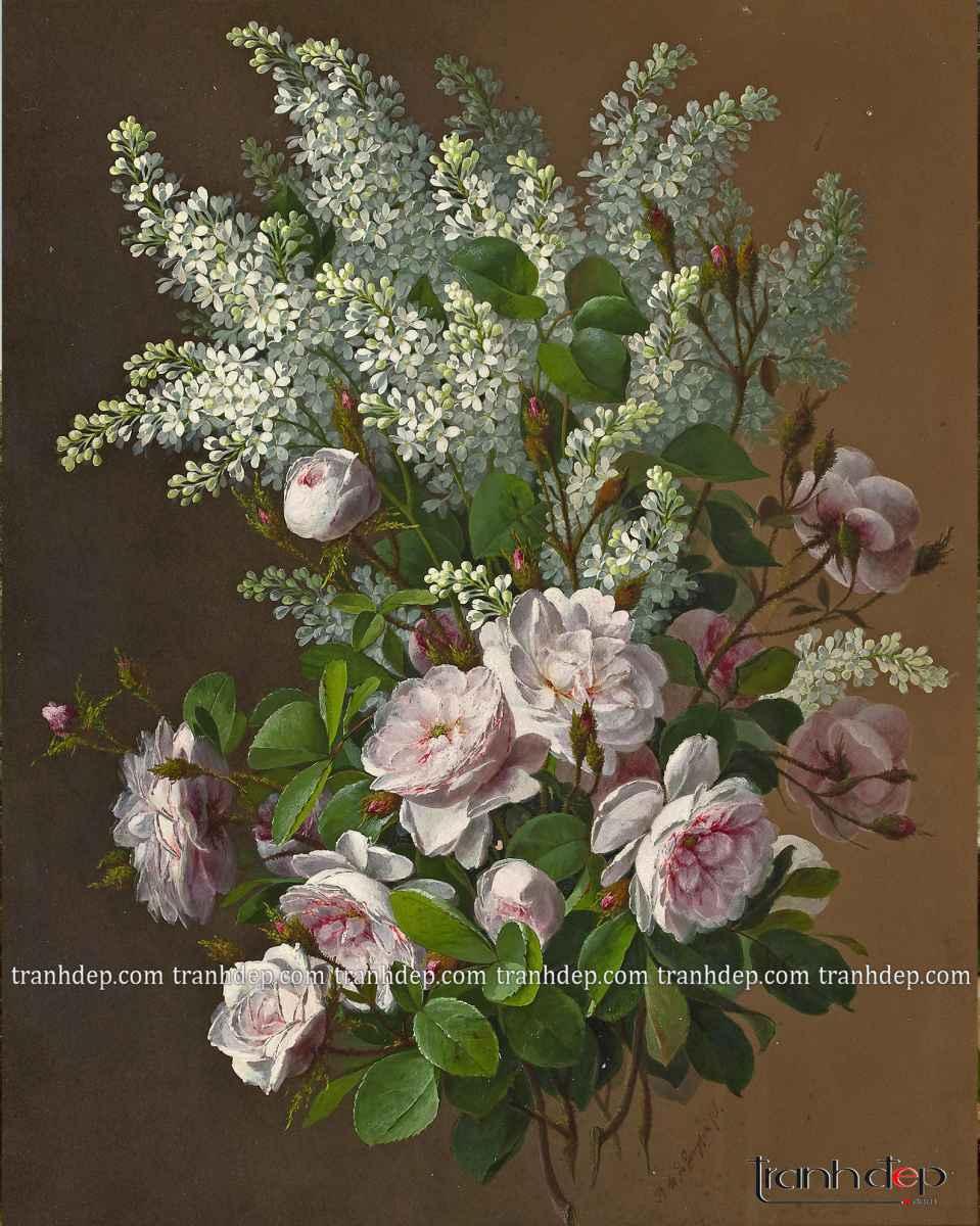tranh bông hoa nhẹ nhàng