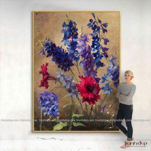 tranh tinh vat violet tím