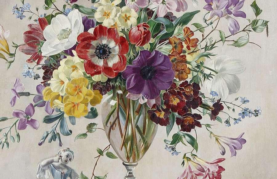 tranh tinh vat hoa nhe nhang tinh te sang trong