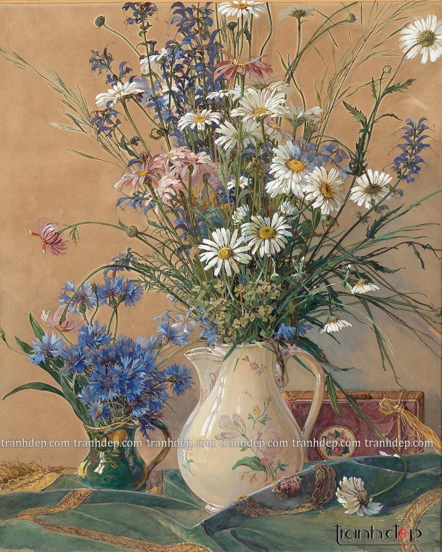 tranh tinh vat binh hoa diu dang