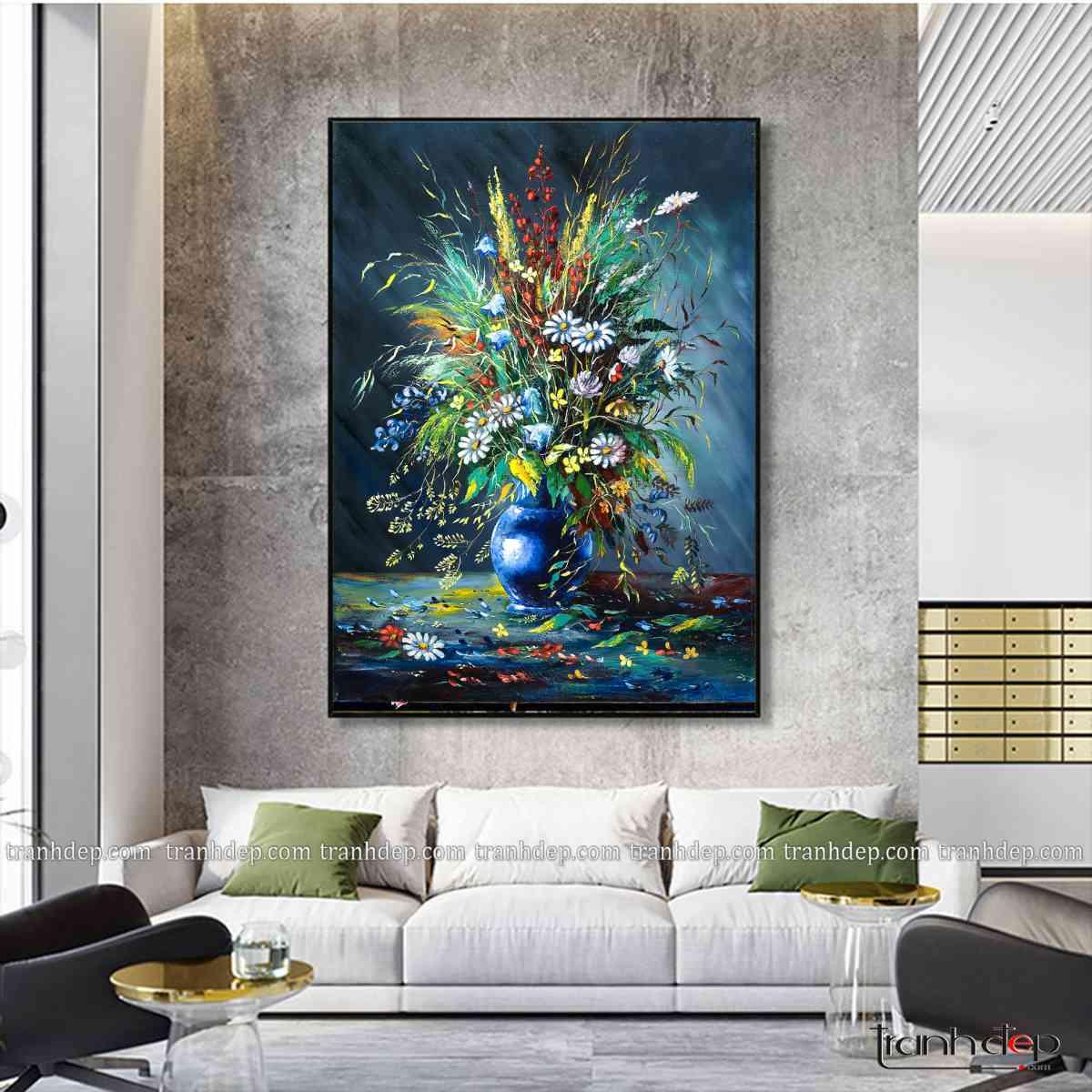 Bức tranh thích hợp trang trí phòng khách, mang đến vẻ đẹp hiện đại