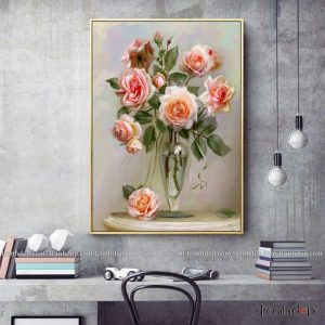 tranh tinh vat hoa hong tinh khiet