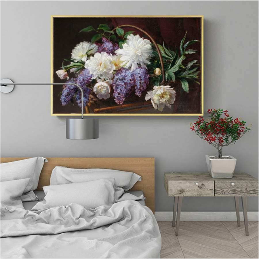 tranh hoa chi tu dinh huong dep nhat