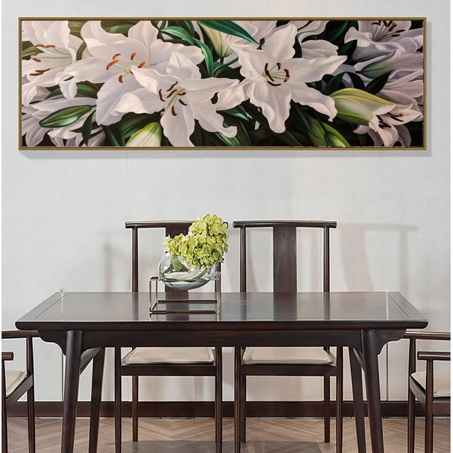 tranh hoa hiện đại - hoa ly