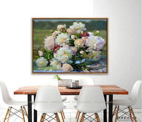 tranh hoa mau don cao sang quyen quy treo phong khach