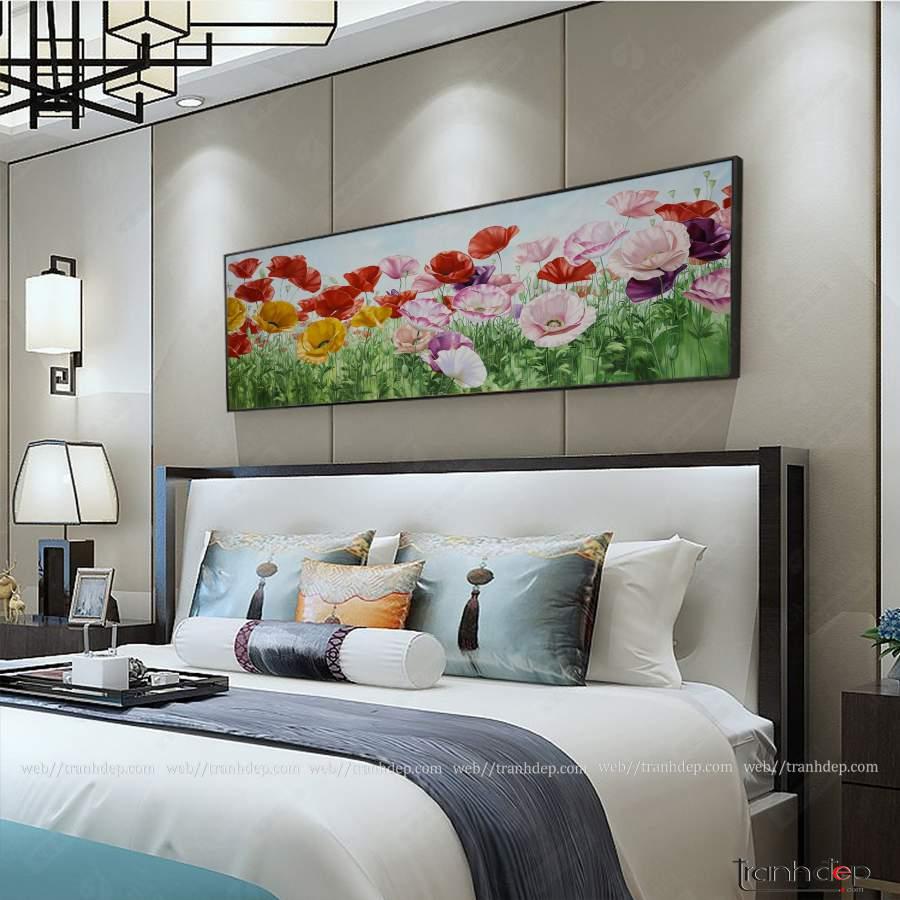 Tranh hoa poppy treo phòng ngủ