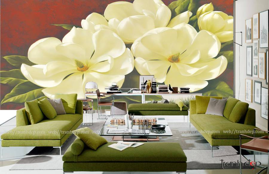 Tranh hoa trà in 3D